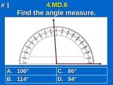 4.MD.6 4th Grade Common Core Math - Measure Angles Using A Protractor