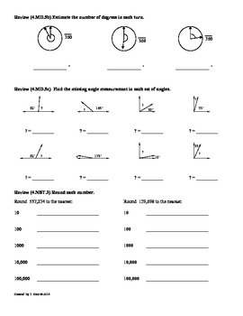 4 md 6 measuring angles 4th grade common core math worksheets by tonya gent. Black Bedroom Furniture Sets. Home Design Ideas