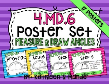 4.MD.6 Poster Set: Measure & Draw Angles