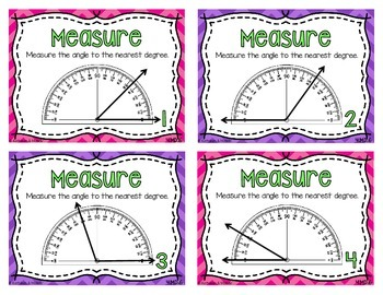4.MD.6 Task Cards: Measure & Draw Angles