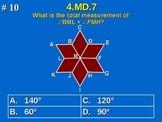 4.MD.7 4th Grade Common Core Math - Find Unknown Angle Measurement.