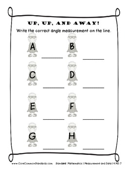 4.MD.7 Fourth Grade Common Core Worksheets, Activity, and Poster