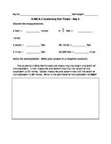 4.MD.A.1 Customary Measurements - Exit Ticket