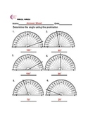 4.MD.C.5, 4.MD.C.6 Measuring Angles Using A Protractor  Common Core Math Sheets