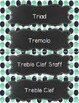 Music Word Wall {Navy & Mint Dot Chalkboard Theme}