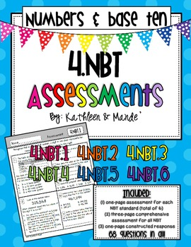 4.NBT Assessment ~ 1 Assessment Per Standard & Comprehensi