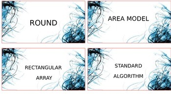 4.NBT Math Vocabulary Cards