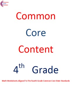 4.NBT Numbers and Operations ALL STANDARDS Fourth Grade Common Core Math Sheets