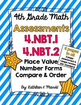 4.NBT.1 & 4.NBT.2: Assessments (Place Value, Number Forms, Compare/Order)