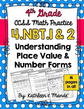 Common core resources lesson plans ccss 4nbta1 nbt1 4nbt2 place value number fandeluxe Gallery