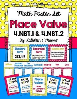 4.NBT.1 & 4.NBT.2: Place Value Poster Set
