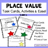 Place Value Task Cards, Anchor Chart and Scoot
