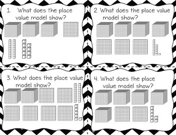 Place Value Task Cards for the Common Core