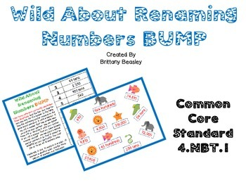 4.NBT.1 Wild About Renaming Numbers BUMP Game