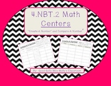 "4.NBT.2 Math Centers-""Create-A-Number"" and ""Compare-A-Number"""