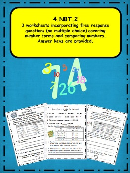 4.NBT.2 Number Forms & Comparing Numbers