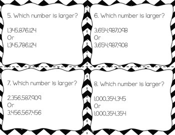 Place Value Task Cards for the Common Core 4NBT2