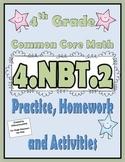 4.NBT.2 Practice, Homework, and Activities 4th Grade Common Core Math
