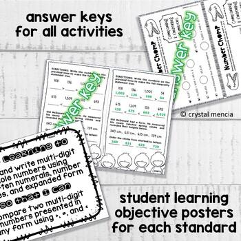 4NBT2 Read, Write, & Comparing MultiDigit Numbers (Interactive Notebook Series)