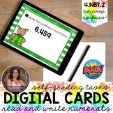 4NBT2 Read and Write Multidigit Numbers Boom Cards™   Dist