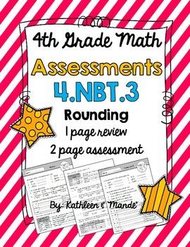 4.NBT.3 Rounding: Assessment & Review