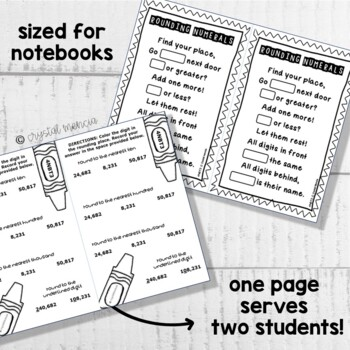 4NBT3 Rounding Multidigit Numbers (Interactive Notebook Series)