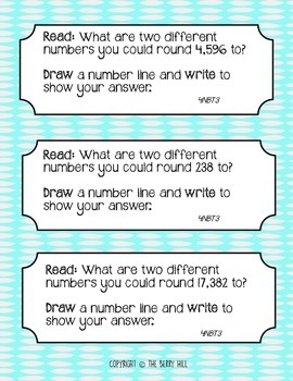 Rounding Journal Prompts - Common Core Aligned!