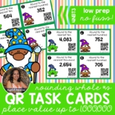 4NBT3 Rounding Whole Numbers to Any Place *QR* MATH TASK CARDS