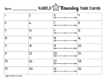4.NBT.3 Task Cards: Rounding