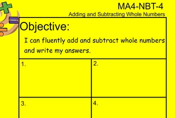 4NBT4 Add and Subtract Whole Numbers