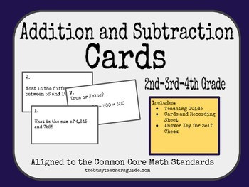 Addition and Subtraction A-Z