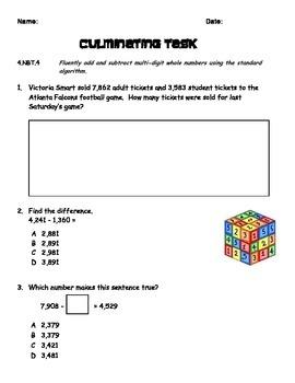 4.NBT.4 Math Warm Ups/AssessmentTasks