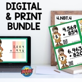 4NBT4 Multidigit Addition WITH Regrouping Boom Cards™ and