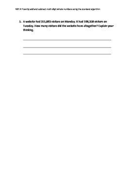 4.NBT,4 quick standard quiz/assessment
