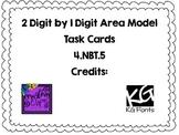 4.NBT.5- 1 Digit by 2 Digit Area Model Task Cards