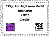 4.NBT.5- 1 Digit by 2 Digit Area Model Task Cards