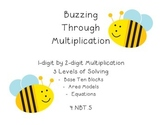 4.NBT.5 - 1 digit by 2 digit Multiplication Task Cards - M