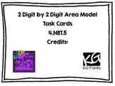 4.NBT.5- 2 Digit by 2 Digit Area Model Task Cards