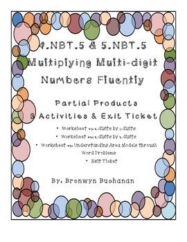 4.NBT.5 & 5.NBT.5 Multiplying Multi-digit Numbers with Area Models