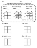4.NBT.5 Area Model Multiplication Worksheet (2 digit x 2 digit)