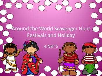 4.NBT.5 Around the World Scavenger Hunt