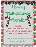 4.NBT.5 Holiday Themed Multiplication BUNDLE