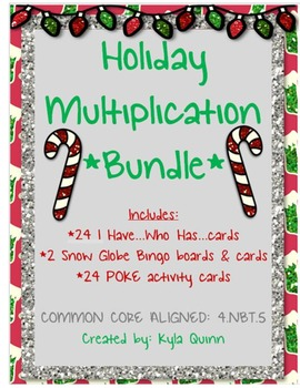 4.NBT.5 Holiday Themed Multiplication BUNDLE