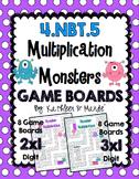 4.NBT.5: Monster Multiplication Game Boards