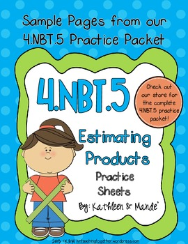 4.NBT.5 Multiplication Practice: Estimating Products {FREEBIE}