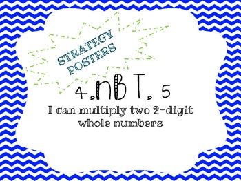 4.NBT.5 Multiplication Strategy Posters