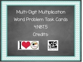 4.NBT.5 Multiplication Word Problem Task Cards