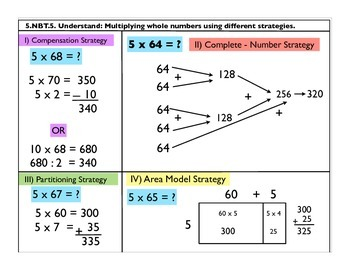 4.NBT.5 Multiply whole numbers using different strategies.