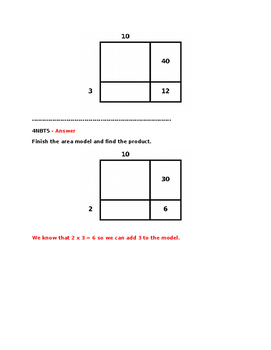 4NBT5 Pre and Post Assessments