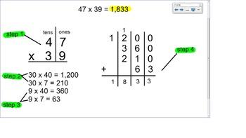 4.NBT.5 SMART Board Lessons [60 Slides, ~1 week of instruction]